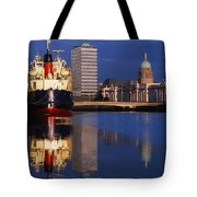 Guinness Boat, Custom House, Liberty Tote Bag by The Irish Image Collection
