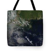 Gulf Oil Spill, April 2010 Tote Bag by NASA