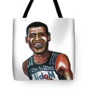 Haile Gebreselassie Tote Bag by Emmanuel Baliyanga