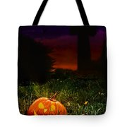 Halloween Cemetery Tote Bag by Amanda Elwell