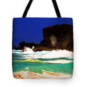 Halona Blowhole Tote Bag by Cheryl Young