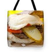 Hamburger With Pickle And Tomato Tote Bag by Elena Elisseeva