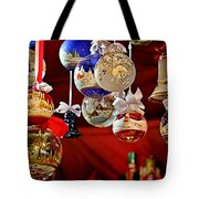 Handcrafted Mouth Blown Christmas Glass Balls Tote Bag by Christine Till