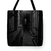 Haunted 1946 Battle Of Alcatraz Death Chamber Tote Bag by Daniel Hagerman