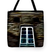 Haunted House Tote Bag by Cheryl Young