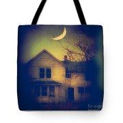 Haunted House Tote Bag by Jill Battaglia