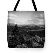 Hawk Mountain Sanctuary Bw Tote Bag by David Dehner