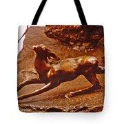 He Who Saved The Deer - Deer Detail Tote Bag by Dawn Senior-Trask