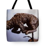 He Who Saved the Deer - wolf detail Tote Bag by Dawn Senior-Trask and Willoughby Senior