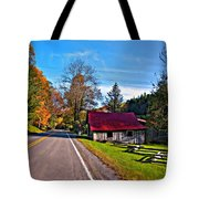 Helvetia Wv Painted Tote Bag by Steve Harrington