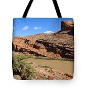 Hiking The Moab Rim Tote Bag by Gary Whitton