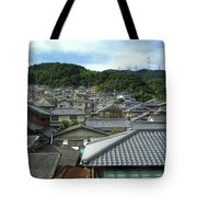 HILLSIDE VILLAGE in JAPAN Tote Bag by Daniel Hagerman