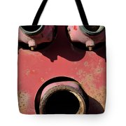 Hollow Face Tote Bag by Luke Moore