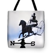 Horse And Buggy Weather Vane Tote Bag by Bill Cannon