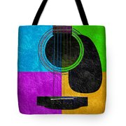 Hour Glass Guitar 4 Colors 3 Tote Bag by Andee Design