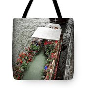 Houseboats In Paris Tote Bag by Elena Elisseeva