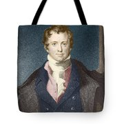 Humphry Davy, English Chemist Tote Bag by Science Source