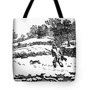 Hunting: Winter, C1800 Tote Bag by Granger