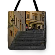 I Walked The Streets Of Prague Tote Bag by Christine Till