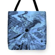 Ice Blue - Abstract Art Tote Bag by Carol Groenen