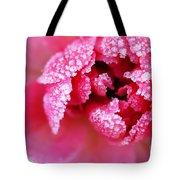 Icy rose Tote Bag by Elena Elisseeva