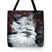 Icy Waterfalls Tote Bag by Paul Ge