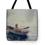 In A Boat Tote Bag by Winslow Homer