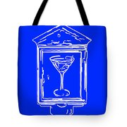 In Case Of Emergency - Drink Martini - Blue Tote Bag by Wingsdomain Art and Photography