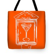 In Case Of Emergency - Drink Martini - Orange Tote Bag by Wingsdomain Art and Photography