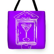 In Case Of Emergency - Drink Martini - Purple Tote Bag by Wingsdomain Art and Photography