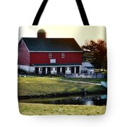 In The Barn Yard Tote Bag by Bill Cannon