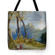 In The Hills Tote Bag by Thomas Moran