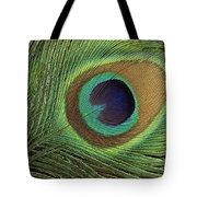 Indian Peafowl Pavo Cristatus Display Tote Bag by Gerry Ellis