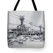 Industrial Site Tote Bag by Ylli Haruni