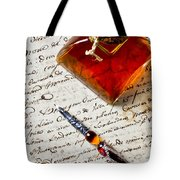 Ink Bottle And Pen  Tote Bag by Garry Gay