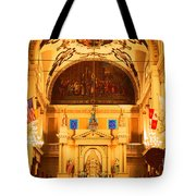 Inside St louis Cathedral Jackson Square French Quarter New Orleans Film Grain Digital Art Tote Bag by Shawn O'Brien