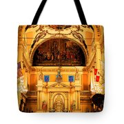 Inside St Louis Cathedral Jackson Square French Quarter New Orleans Ink Outlines Digital Art Tote Bag by Shawn O'Brien