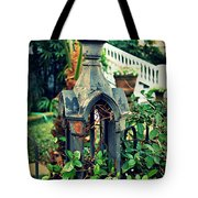 Iron Fence Detail Tote Bag by Perry Webster