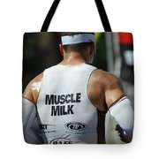 Ironman Muscle Milk Tote Bag by Bob Christopher