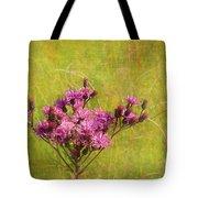 Ironweed In Autumn Tote Bag by Judi Bagwell