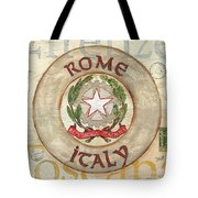 Italian Coat of Arms Tote Bag by Debbie DeWitt
