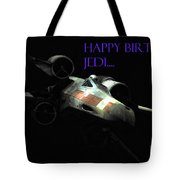 Jedi Birthday Card Tote Bag by Micah May