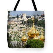 Jerusalem Church Of St Mary Magdalene  Tote Bag by Eva Kaufman
