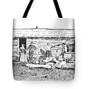 Kansas: Early House, 1854 Tote Bag by Granger