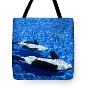 Killer Whales Tote Bag by Dave Fleetham - Printscapes
