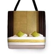 King Size Bed Tote Bag by Atiketta Sangasaeng