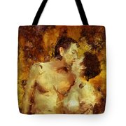 Kiss Me Again Tote Bag by Kurt Van Wagner