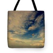 Kite At Folly Beach Near Charleston Sc Tote Bag by Susanne Van Hulst