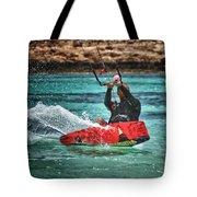 kitesurfer Tote Bag by Stylianos Kleanthous