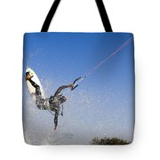 Kitesurfing Tote Bag by Hagai Nativ